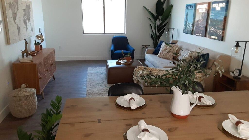Trellis@Colter - Verde Model - 2nd Floor Kitchen into Living Room